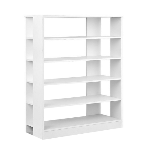 6-Tier Shoe Rack Cabinet - White
