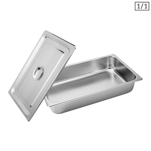 Gastronorm GN Pan Full Size 1/1 GN Pan 10cm Deep Stainless Steel Tray With Lid