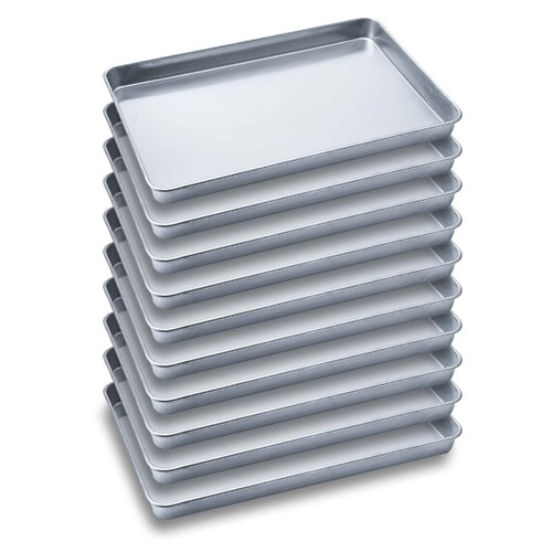 10X Aluminium Oven Baking Pan Cooking Tray for Baker Gastronorm 60*40*5cm