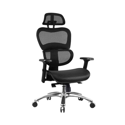 Executive Deluxe Office Mesh Chair Net High Back Home School Gaming Black