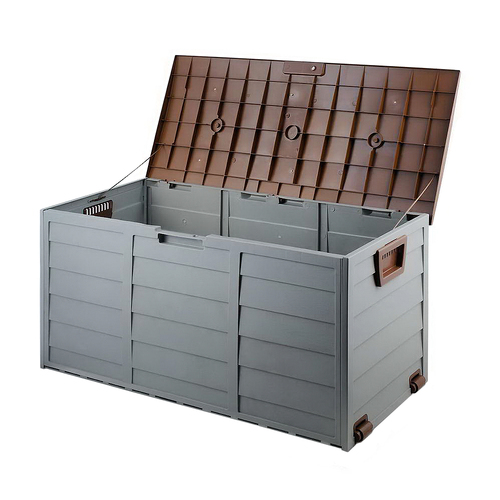 Giantz 290L Outdoor Storage Box - Brown