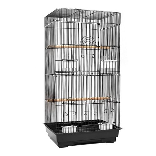 88cm Portable Bird Cage Carrier - Black