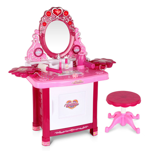 Keezi 30 Piece Kids Dressing Table Set - Pink