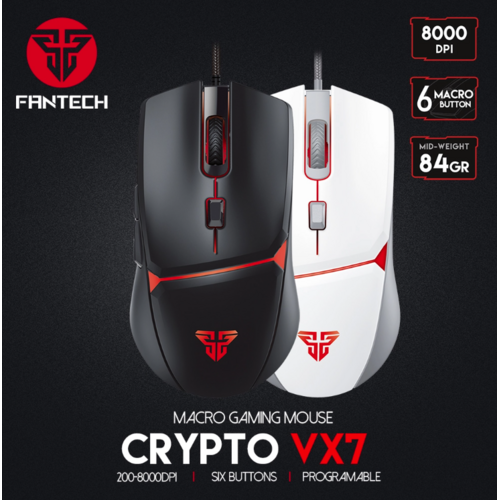 FANTECH VX7 CRYPTO wired macro gaming mouse