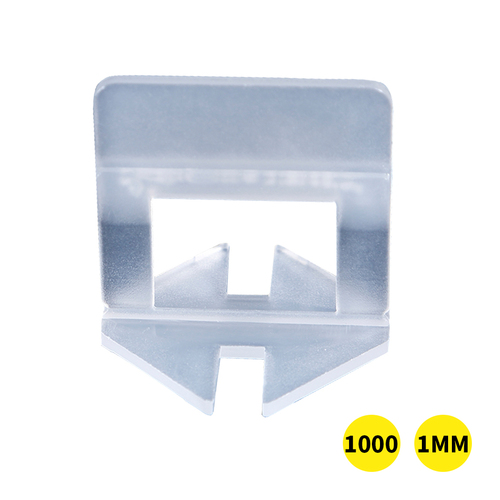 2000x 1MM Tile Leveling System Clips Levelling Spacer Tiling Tool Floor Wall