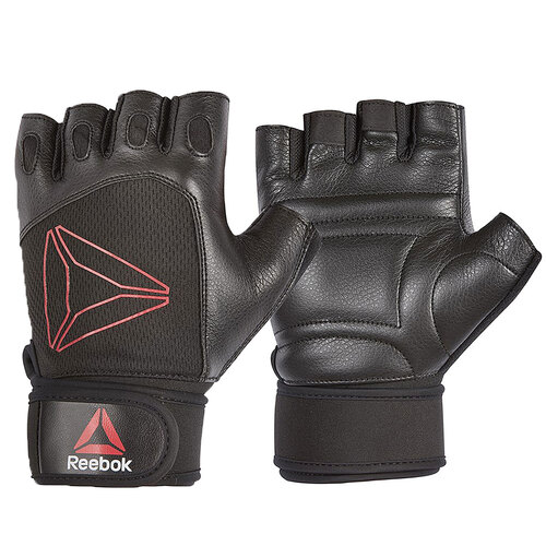 Reebok Lifting Gloves - Black, Red/Small
