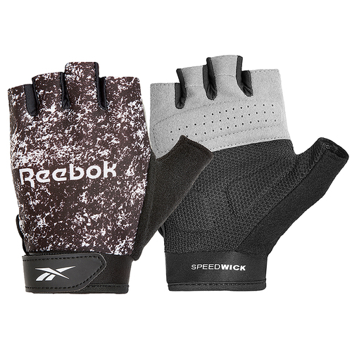 Reebok Womens Fitness Gloves - Black & White/Large