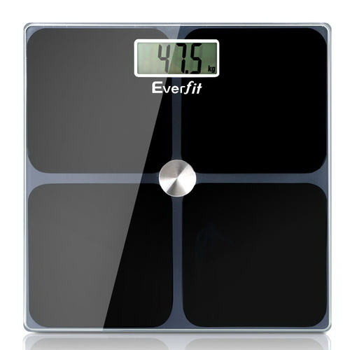 Everfit Electronic Digital Body Weight Scale Bathroom Scale-Black