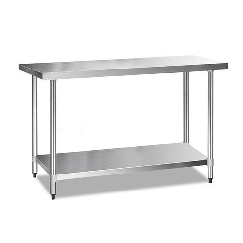 Cefito 610 x 1524mm Commercial Stainless Steel Kitchen Bench