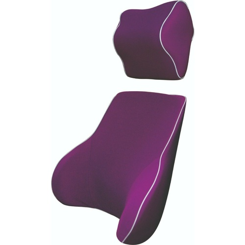 Purple Memory Foam Lumbar Back & Neck Pillow Support Back Cushion Office Car Seat