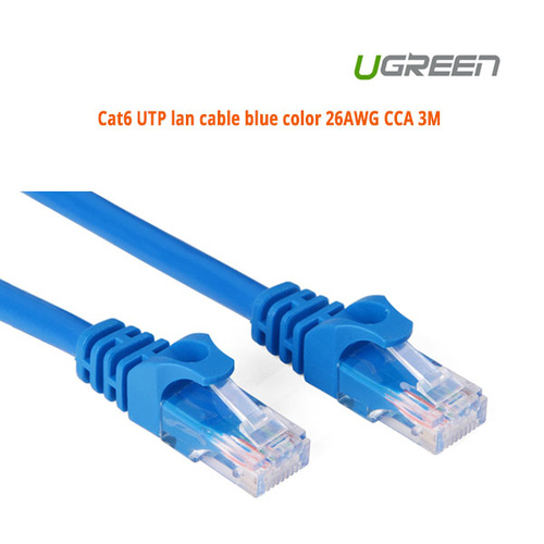 UGREEN Cat6 UTP lan cable blue color 26AWG CCA 3M ACBUGN11203