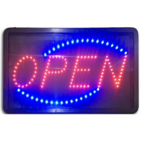 "CHOSEN BRANDED "" OPEN"" LED SIGN BOARD 56X33CM"