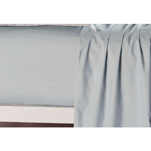 King Size Blue Fog Color Fitted Sheet