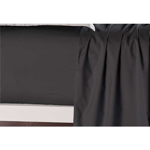 King Size Black Color Fitted Sheet