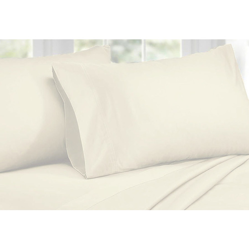 King Size 1000TC Cotton Rich Sheet Set (Ivory Color)