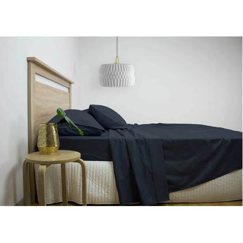 Queen Size 2500TC Cotton Rich Sheet Set (Navy Color)