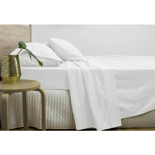 Super King Size 3000TC Cotton Rich Sheet Set (White Color)