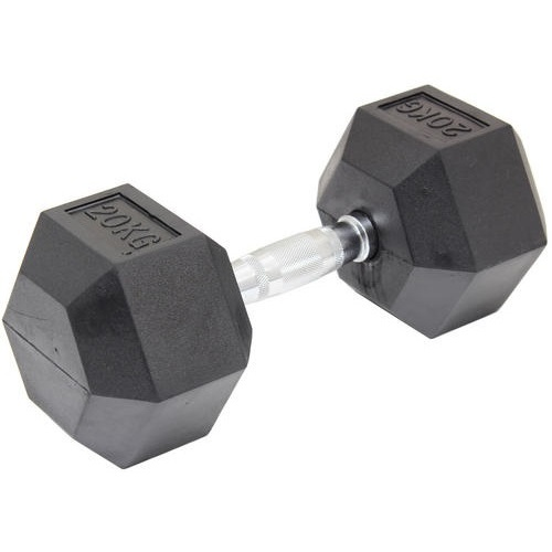 20KG Commercial Rubber Hex Dumbbell Gym Weight