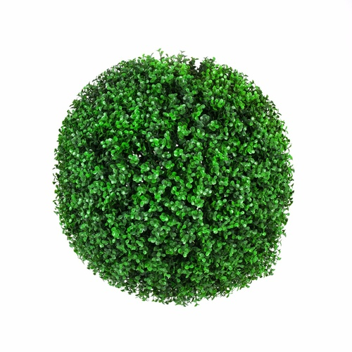 Large Green Leaf Buxus 'Faulkner' Topiary Ball 48cm UV Stabilised