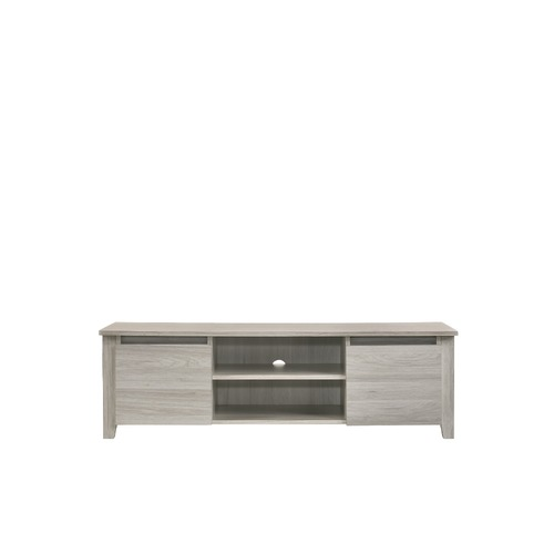 TV Stand Entertainment Unit 120cm In White Oak