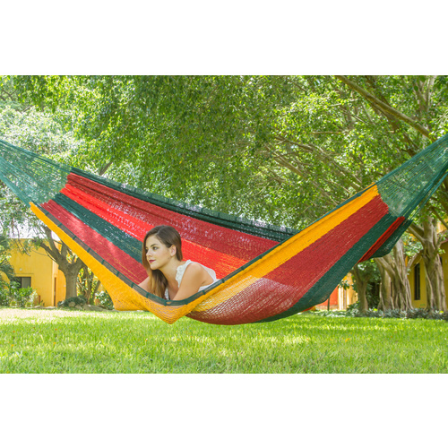 Jumbo Size Outdoor Cotton Hammock in Imperial