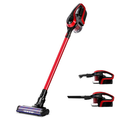 Devanti Cordless 150W Handstick Vacuum Cleaner - Red and Black