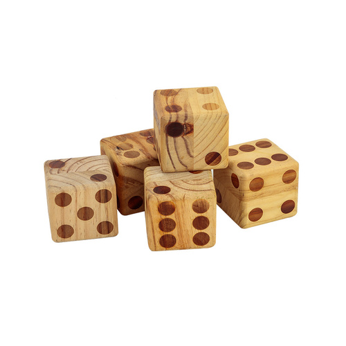 Wooden Dice Set 9cm Diameter With Scorecard Book