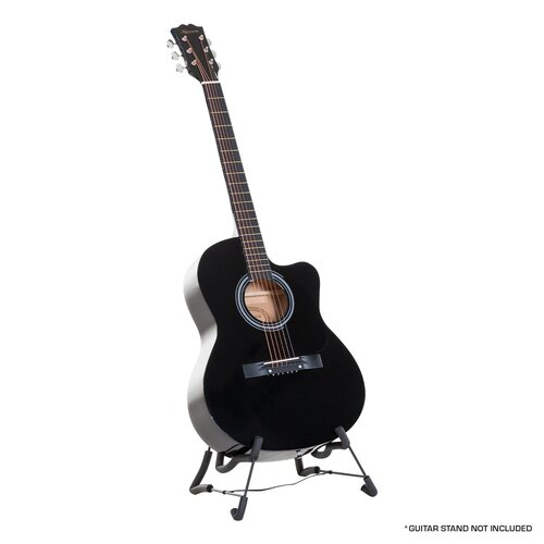 Karrera Acoustic Cutaway 40in Guitar - Black