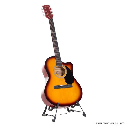 Karrera Acoustic Cutaway 40in Guitar - Sunburst