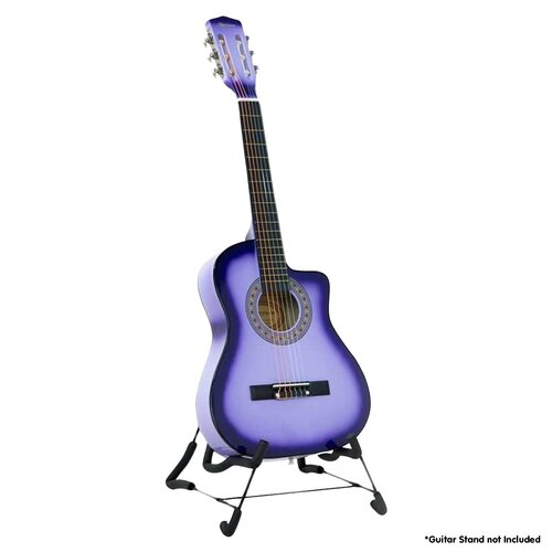 38in Cutaway Acoustic Guitar with guitar bag - Purple Burst