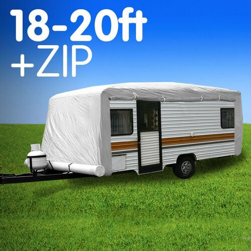 Caravan Cover with zip 18-20 ft