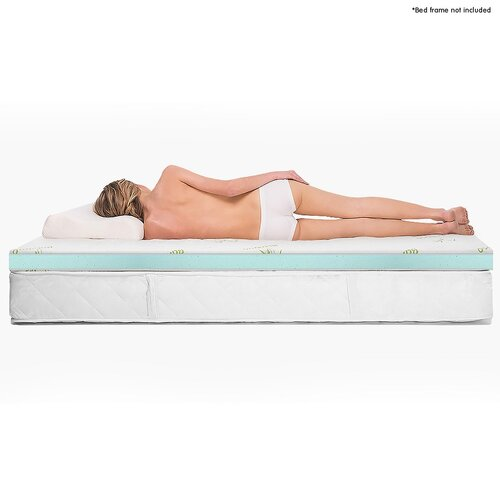 Cool GEL Memory Foam Mattress Topper - King