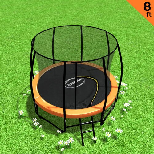 Kahuna 8ft Trampoline Spring Outdoor - Orange