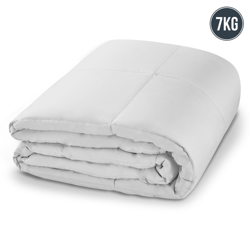 Laura Hill Weighted Blanket Heavy Kids Quilt Doona 7Kg - White
