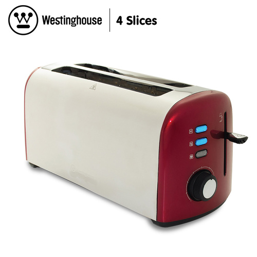 Westinghouse 4 Slice Toaster - Pearl Red